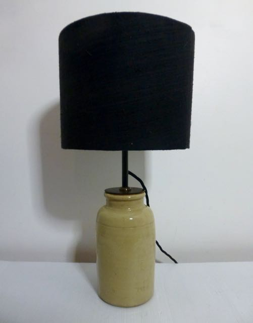 French earthen wear pot small lamp