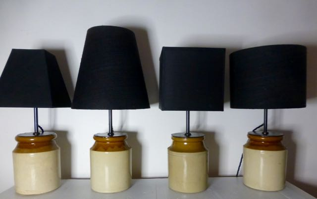 Picture of Set of 4 French earthen wear pot lamps