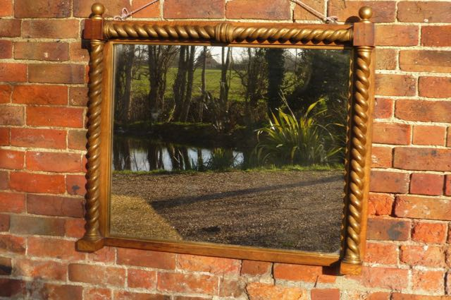 Overmantel mirror with Twist frame