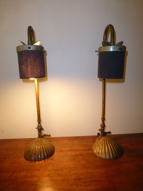 Picture of Pair of old Gas lamps