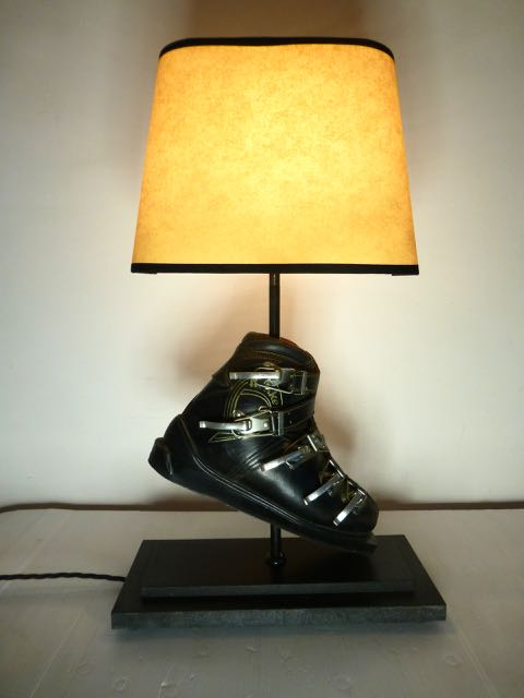 Picture of Ski boot lamp one of a pair.
