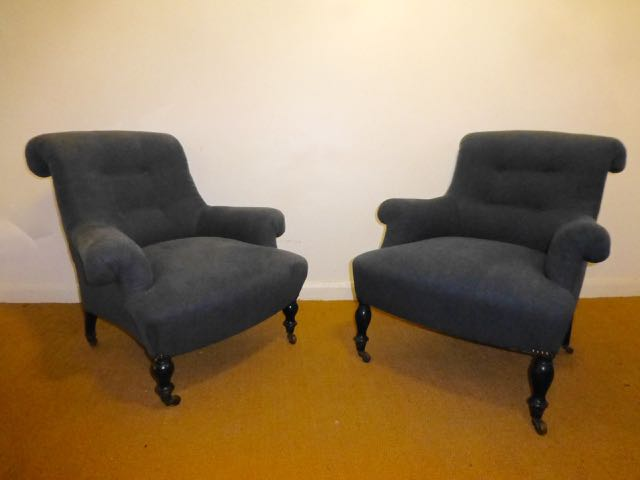 Picture of A near pair of French Napoleonic chairs