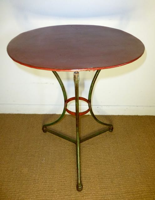 Picture of French painted metal table