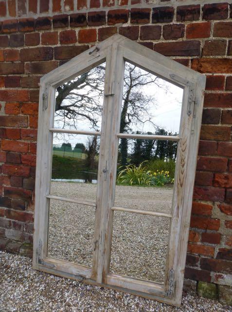 Woden French window mirror