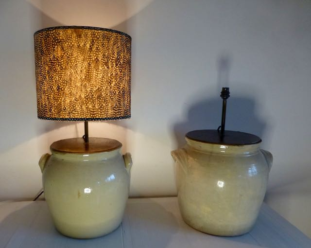 Picture of French earthen wear pot lighting