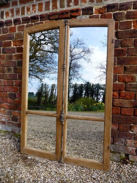 French oak window mirror 145cm