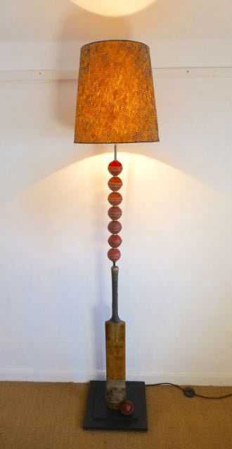Picture of Cricket bat and balls standard lamp