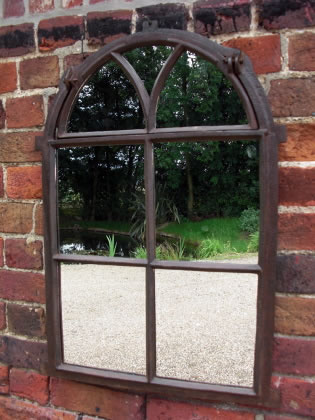Picture of One of a pair of arched top window mirrors