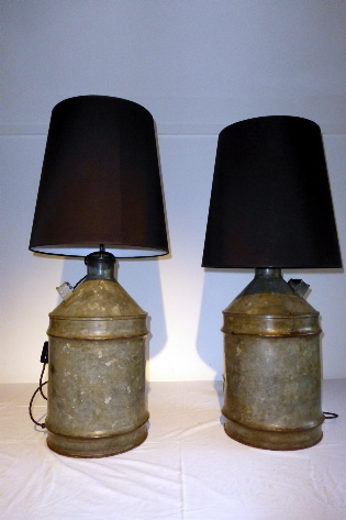 Picture of Pair of Paraffin Can Table Lamps