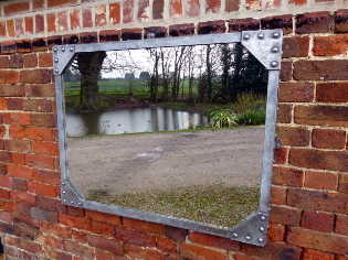 Picture of Polished galvanised tank mirror