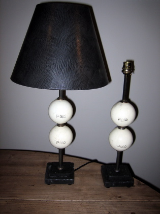 Picture of Pair of Polo ball table lamps