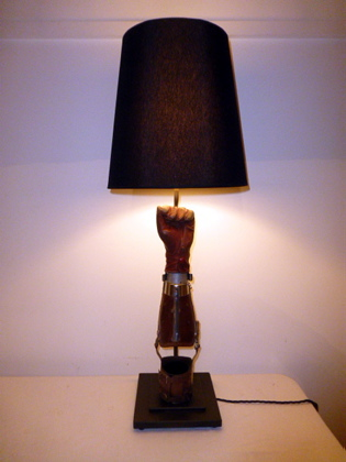 Prosthetic Arm Table Lamp