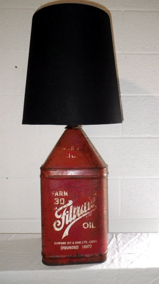 Picture of Red Oil Can Lamp