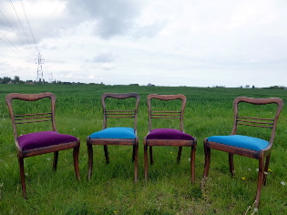 Picture of 4 Rose Wood Chairs