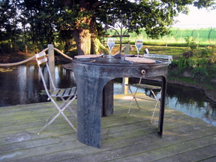 Picture of Reclaimed Galvanised Water Tank Table