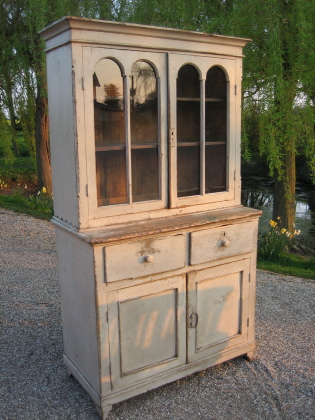 Picture of Old Painted Pine Russian Dresser