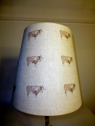 Picture of Italian Linen Cow Shade