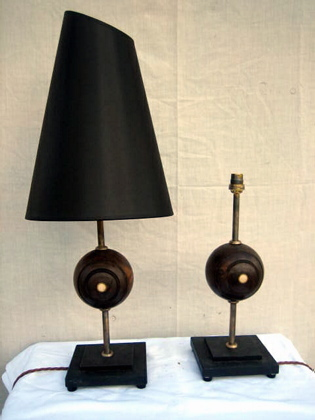 Picture of Single Bowling Ball Table Lamps