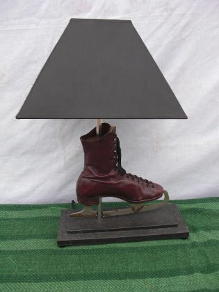 Picture of Leather skate lamp