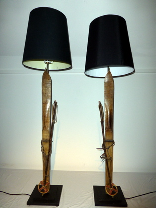 Picture of Pair of Vintage Child's Alpine Ski Lamps