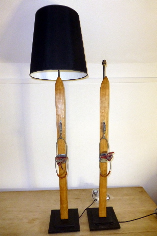 Picture of Old Alpine ski lamps