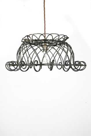 Picture of French Wire Basket Light
