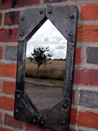 Picture of Small Galvanised tank window mirror