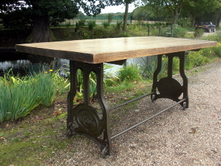 Reclaimed Industrial Table Base