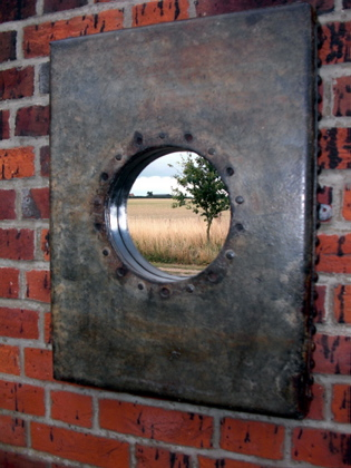 Picture of Old Galvanised tank port hole mirror