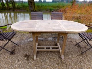 Picture of Teak adjustable table