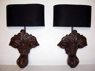 Picture of Victorian Cast Iron Bath Feet Wall Sconces