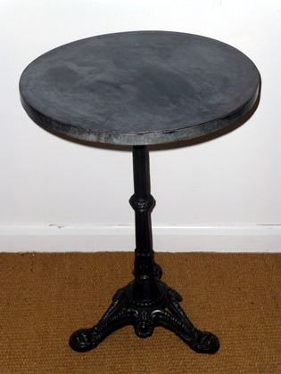 Picture of Victorian Table with Galvanised Table Top