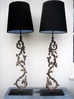 Picture of Pair of Ballustrade table lamps