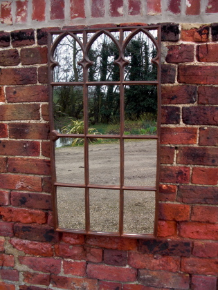Picture of Victorian gothic window mirror