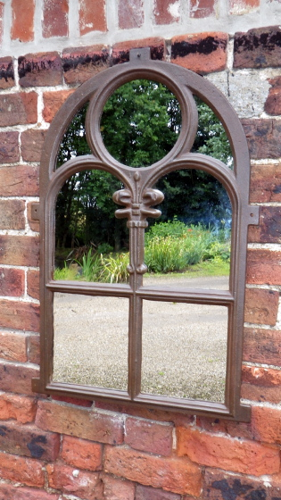 Picture of Cast decorative window mirror