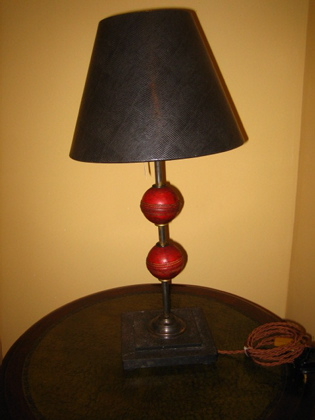 Picture of Pair of Cricket ball table lamps