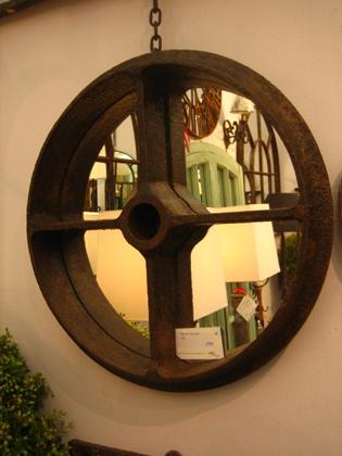 Farm plough roller mirror