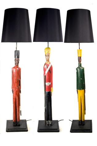 Picture of Colonial Soldier Lamps